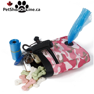 Reward pouch and poop bag compartment, for dog