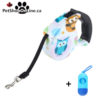 Automatic retractor leash - Owl model