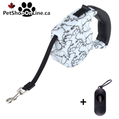 Automatic retractor leash - Black and White  model