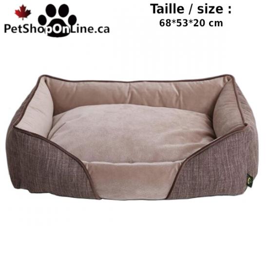 Deluxe Dog bed -  Beige suede - Square form