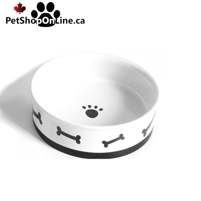 Ceramic bowl with rubber for dog