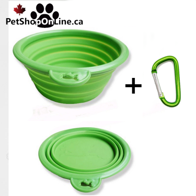 Silicone folding travel bowl for dogs