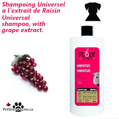 PLOUF Universal shampoo, with grape extract.