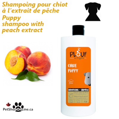 Puppy shampoo with peach extract