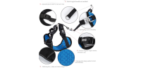 Harness + safety belt for dogs