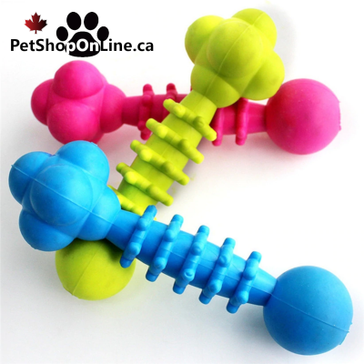 Chewable rubber bones, for dogs