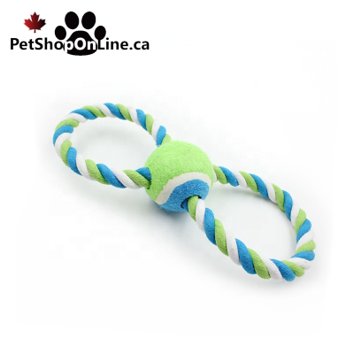 Rope toy with tennis ball