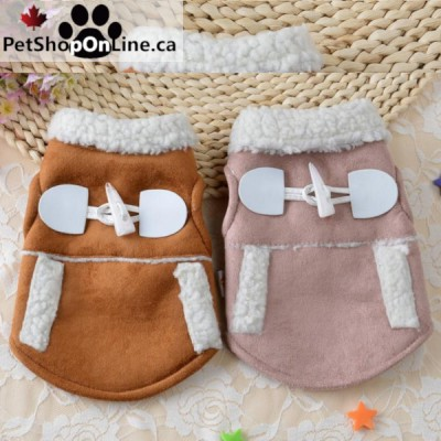 Suede coat for dogs