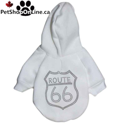 ROUTE 66 hoodie - Grey or White