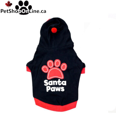SANTA PAWS Sweatshirt - Black