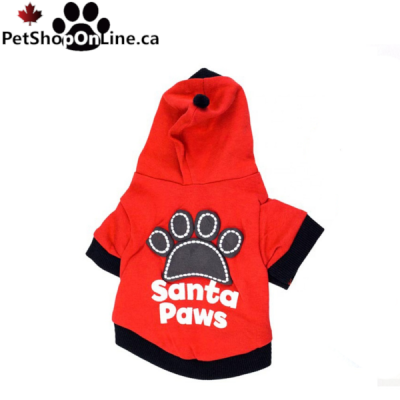 SANTA PAWS Sweatshirt - Red