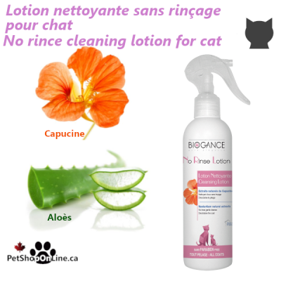 No rince cleaning lotion for cat