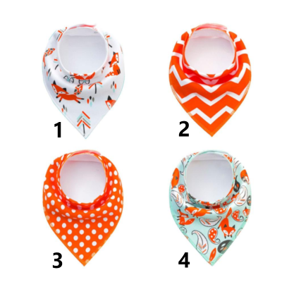 Bandana pour chien à boutons pression - Collection Orange