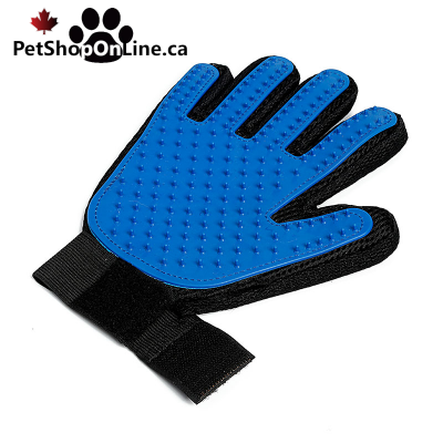 Tissue and silicone brushing glove, for dog or cat