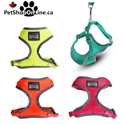 Reflective anti-perspirant harness for cat and dog