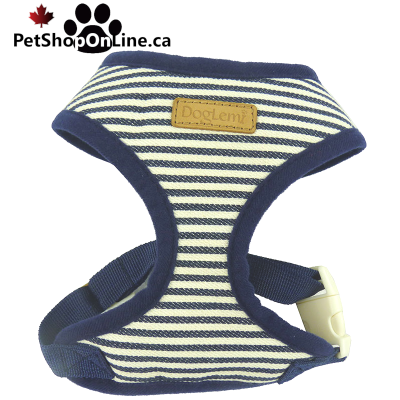 Striped harness doubled for cat or dog