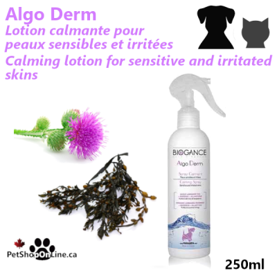 Calming lotion for sensitive and irritated skins, for cat and dog
