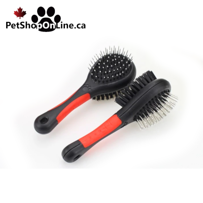 Double face brush for dogs and cats