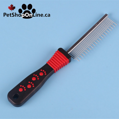 Alternate tooth comb for dog or cat