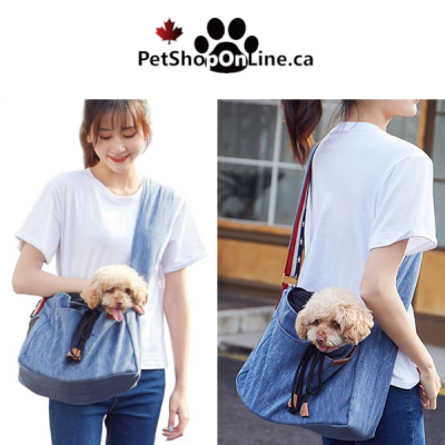Carry bag with shoulder strap for cat or small dog