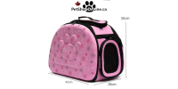 Pet carrier for small dog and cat - pink
