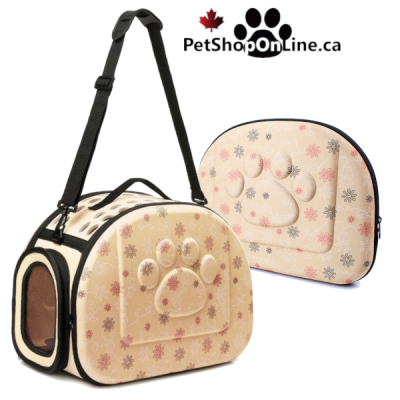 Pet carrier for small dog and cat - beige
