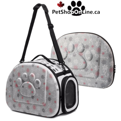 Pet carrier for small dog and cat - grey